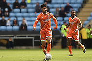 Shrewsbury Town midfielder Josh Laurent (28) sprints forward with the ball during the EFL Sky Bet League 1 match between Coventry City and Shrewsbury Town at the Ricoh Arena, Coventry, England on 28 April 2019.