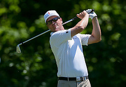 May 25, 2018 - Forth Worth, TX, U.S. - FORT WORTH, TX - MAY 25: Zach Johnson hits his tee shot on #8 during the second round of the Fort Worth Invitational on May 25, 2018 at Colonial Country Club in Fort Worth, TX. (Photo by Andrew Dieb/Icon Sportswire) (Credit Image: © Andrew Dieb/Icon SMI via ZUMA Press)