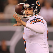 Chicago Bears quarterback Jay Cutler, in action during the New York Jets Vs Chicago Bears, NFL regular season game at MetLife Stadium, East Rutherford, NJ, USA. 22nd September 2014. Photo Tim Clayton for the New York Times