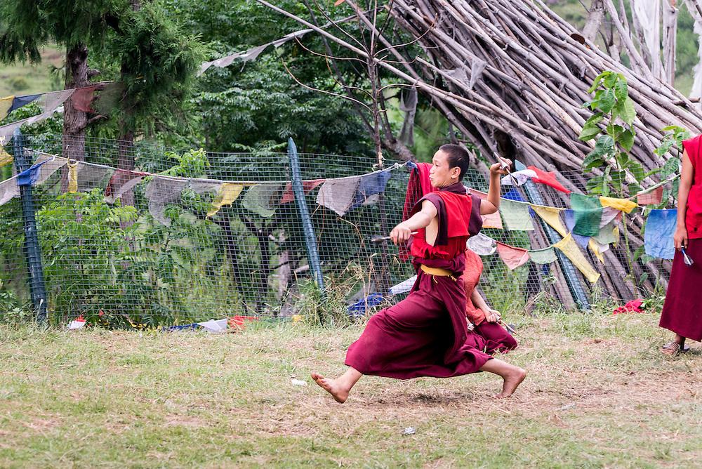 Bhutan, monks <br /> <br /> Full photoessay at http://xpatmatt.com/photos/bhutan-photos/