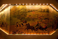 Oil Paintings mural of Central Park in old days at Tavern on the Green. .(Photo by Robert Caplin)..