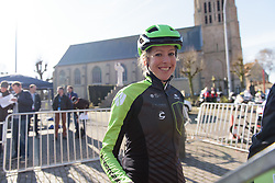 Willeke Knol makes her way to sign in at Women's Gent Wevelgem 2017. A 145 km road race on March 26th 2017, from Boezinge to Wevelgem, Belgium. (Photo by Sean Robinson/Velofocus)