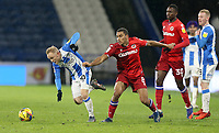 Huddersfield Town's Alex Pritchard gets away from Reading's Andy Rinomhota<br /> <br /> Photographer Rich Linley/CameraSport<br /> <br /> The EFL Sky Bet Championship - Saturday 2nd January 2021 - Huddersfield Town v Reading - The John Smith's Stadium - Huddersfield<br /> <br /> World Copyright © 2020 CameraSport. All rights reserved. 43 Linden Ave. Countesthorpe. Leicester. England. LE8 5PG - Tel: +44 (0) 116 277 4147 - admin@camerasport.com - www.camerasport.com