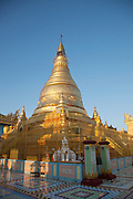 The central pagoda in a monastery in the Sagaing hills, near Mandalay in Myanmar