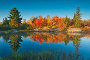 St. Poithier Lake in autumn<br />Worthington<br />Ontario<br />Canada