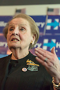 Former U.S. Secretary of State Madeleine Albright at the Hillary for America Office in Chicago.