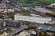 Nederland, Limburg, Maastricht, 15-11-2010;.Sphinxfabriek (Mosa), gebouw De Eiffel. in de Boschstraat. Sphinx Factory (Mosa), historic building the Eiffel in the Boschstraat, Maastricht..luchtfoto (toeslag), aerial photo (additional fee required).foto/photo Siebe Swart