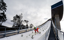 03.01.2013, Bergisel Schanze, Innsbruck, AUT, FIS Ski Sprung Weltcup, 61. Vierschanzentournee, Training, im Bild Anton Kalinitschenko (RUS) // Anton Kalinitschenko of Russia during practice Jump of 61th Four Hills Tournament of FIS Ski Jumping World Cup at the Bergisel Schanze, Innsbruck, Austria on 2013/01/03. EXPA Pictures © 2012, PhotoCredit: EXPA/ Juergen Feichter