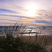 """""""Beyond Grasses Tall""""<br /> <br /> Lovely calming scene on Lake Michigan!!<br /> <br /> The Great Lakes by Rachel Cohen"""