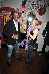 Lizo Mzimba and Claire Hazelgrove at a party to celebrate the opening of Barts, Sloane Ave, London on 26th February 2009.