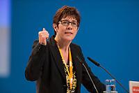 09 DEC 2014, KOELN/GERMANY:<br /> Annegret Kramp-Karrenbauer, CDU, MdL, Ministerpraesidentin Saarland, haelt eine Rede, CDU Bundesparteitag, Messe Koeln<br /> IMAGE: 20141209-01-131<br /> KEYWORDS: Party Congress