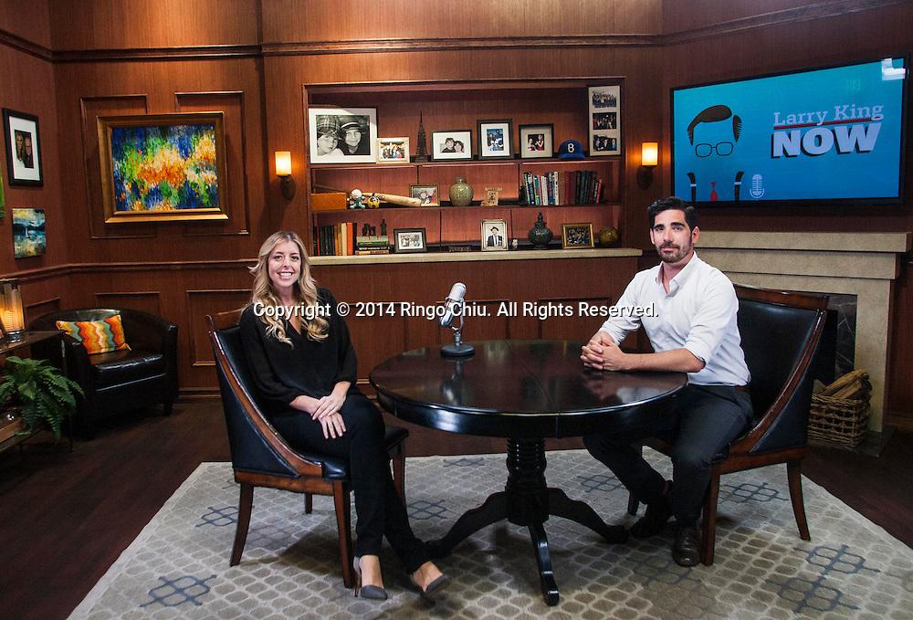 Allison Glader and Jason Rovou, heads of Ora.TV's L.A. production studio.<br /> (Photo by Ringo Chiu/PHOTOFORMULA.com)