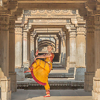 A dancer performs at the Adalaj Vav, an ancient stepwell in the state of Gujarat.