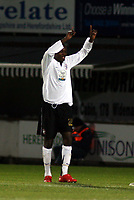 Photo: Mark Stephenson/Sportsbeat Images.<br /> Hereford United v Hartlepool United. The FA Cup. 01/12/2007.Hereford's Theo Robinson celebrates his goal