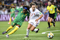 6?10??????????????????????????????????.Gabrielle Aboudi Onguene (L) of Cameroon vies with Allysha Chapman (R) of Canada during..???????????????2019?6?11?.?????????——E??????????????.?????????????2019??????????E???????????1?0??????.?????????..(SP)FRANCE-RENNES-2019 FIFA WOMEN'S WORLD CUP-GROUP E-CANADA VS CAMEROON..(190611) -- MONTPELLIER, June 11, 2019  the group E match between Canada and Cameroon at the 2019 FIFA Women's World Cup in Montpellier, France on June 10, 2019. Canada won 1-0. (Credit Image: © Xinhua via ZUMA Wire)