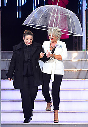 Maggie Oliver enters the house during the Celebrity Big Brother Launch held at Elstree Studios in Borehamwood, Hertfordshire.Â