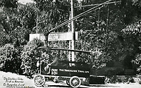 1914 Trackless trolley at the Bungalow Inn in Laurel Canyon
