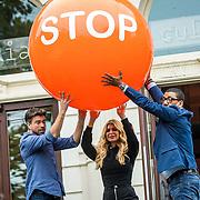 NLD/Amsterdam/20200903 - Kick off Stoptober 2020, Rick Brandsteder, Estelle Gullit en Jorgen Raymann