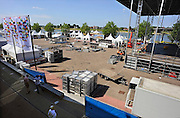 Nederland, Nijmegen, 14-7-2010Op de Waalkade wodt gewerkt aan het podium en voorzieningen voor de komende zomerfeesten van de 4daagse die komende zaterdag beginnen.Foto: Flip Franssen/Hollandse Hoogte