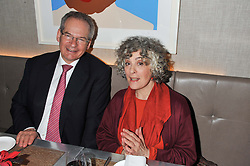 ROBERT WALEY-COHEN and ELEANOR BRON at a dinner to celebrate the opening of the Serpentine's Gallery new exhibition of work by Jonas Mekas held at Cassis, 232-236 Brompton Road, London SW3, London on 3rd December 2012.