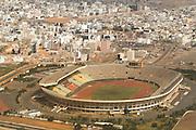 Aerial view of the stade Leopold Sedar Senghor stadium in Dakar, Senegal.