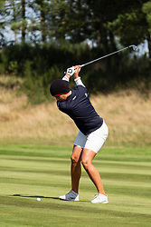 Gleneagles, Scotland, UK; 9 August, 2018.  Day two of European Championships 2018 competition at Gleneagles. Men's and Women's Team Championships Round Robin Group Stage - 2nd Round. Four Ball Match Play format. Karolin Lampert of Germany