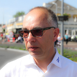 WIELRENNEN, Hoofddorp, Olympias tour. De winnende ploegleider Han Vaanhold vna Cyclingteam Jo Piels
