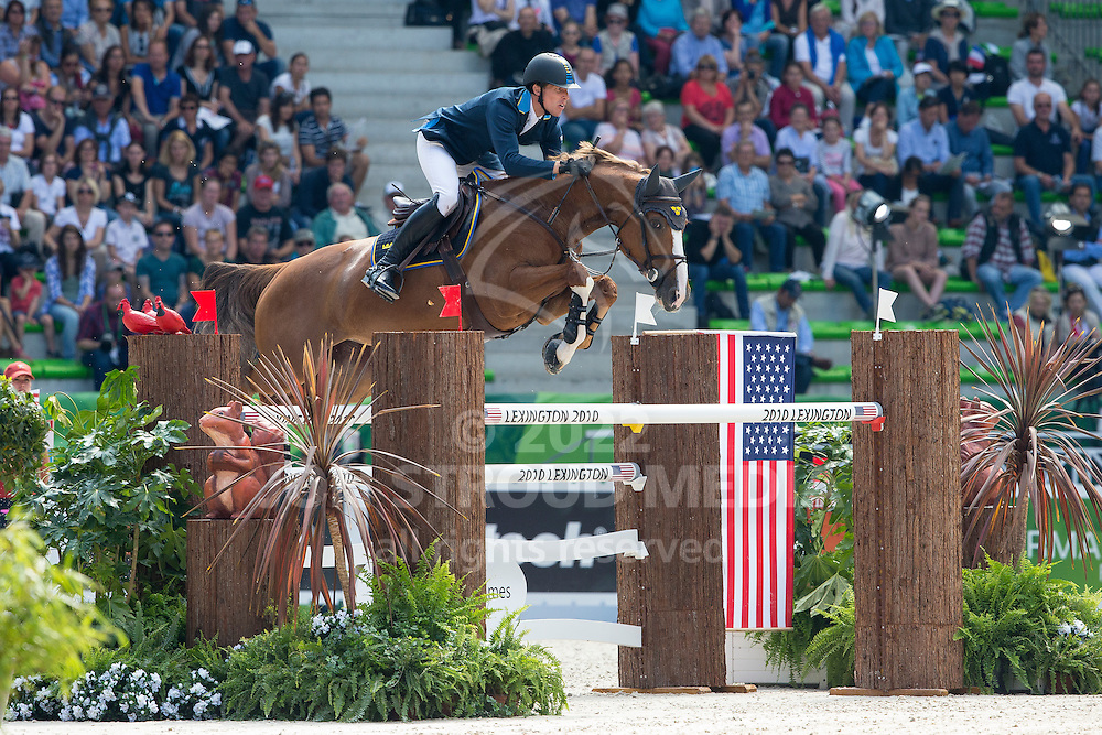 Henrik Von Eckermann, (SWE), Gotha FRH - First Round Team Competition Jumping Speed - Alltech FEI World Equestrian Games™ 2014 - Normandy, France.<br /> © Hippo Foto Team - Leanjo De Koster<br /> 03-09-14