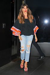 Sofía Vergara was seen heading to Late Night with Seth Meyers in NYC. 28 Sep 2017 Pictured: Sofía Vergara. Photo credit: ZapatA/MEGA TheMegaAgency.com +1 888 505 6342