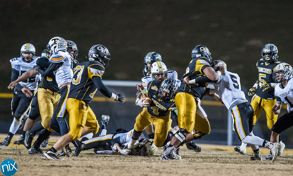 Concord against Tuscola in the first round of the NCHSAA playoffs Friday night at Concord High School. Concord won the game 49-7