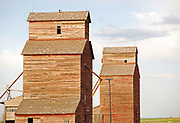 Grain Elevators near Lewistown, Montana.