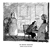 The British Character. Absence of ideas for meals