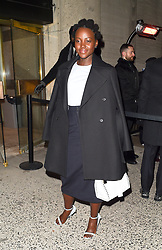 Lupita Nyong'o is seen at the Calvin Klein fashion show in New York<br />
