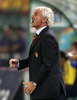 Roma 23/9/2004 Campionato Italiano Serie A 2004/2005 <br /> <br /> Roma Lecce 2-2 <br /> <br /> AS Roma trainer Rudi Voeller <br /> <br /> Rudi Voeller allenatore della Roma<br /> <br /> Foto Andrea Staccioli Graffiti