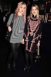 Left to right, sisters COCO FENNELL and EMERALD FENNELL daughters of Theo Fennell at the Tatler Magazine Little Black Book party at Tramp, 40 Jermyn Street, London SW1 on 5th November 2008.
