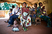 Women and children wait for the general physical check-ups in the Outpatient Division operating under MSF-France in Carnot Hospital, Carnot, Central African Republic.