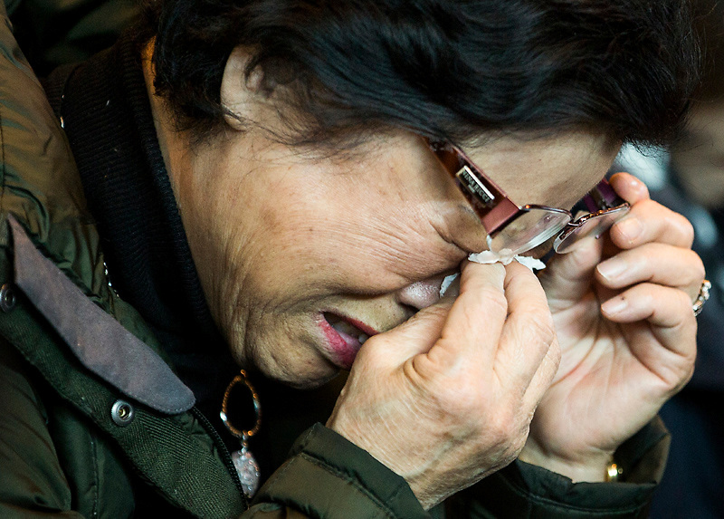 A woman takes part in a prayer service for Reverend Hyeon Soo Lim, inside a chapel at the Light Korean Presbyterian Church in Mississauga, March 9, 2015. The Rev. Hyeon Soo Lim, 60, the leader of the 3,000-member Light Korean Presbyterian Church in suburban Toronto, was last heard from on Jan. 31 and is believed to be the Canadian who diplomats have confirmed is being detained by North Korean authorities.