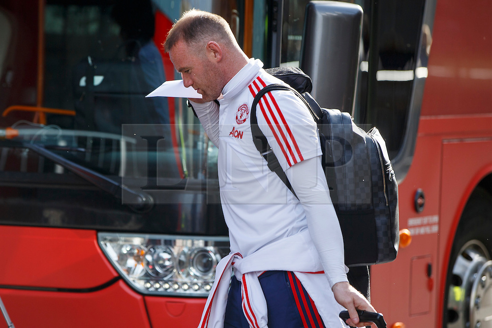 © Licensed to London News Pictures. 20/05/2016. London, UK. Manchester United player WAYNE ROONEY arrive at his hotel in Wembley, London on Friday, 20 May 2016, ahead of the FA Cup final against Crystal Palace in Wembley Stadium. Photo credit: Tolga Akmen/LNP