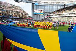 June 27, 2018 - Ekaterinburg, RUSSIA - 180627 Staring elevens of Mexico and Sweden prior  the FIFA World Cup group stage match between Mexico and Sweden on June 27, 2018 in Ekaterinburg..Photo: Joel Marklund / BILDBYRN / kod JM / 87737 (Credit Image: © Joel Marklund/Bildbyran via ZUMA Press)