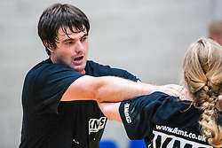 P1's grading. Franklyn Hartkamp takes the Institute Of Krav Maga Scotland grading today at Stirling.<br /> ©Michael Schofield.
