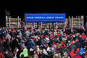 Crowds gather during a 'Make America Great Again' rally in Duluth, Minnesota, U.S. on Wednesday, Sept. 30, 2020. Trump and Democratic nominee Joe Biden began their first debate on an acrimonious note and quickly made it personal, with each candidate interrupting and talking over each other. Photographer: Ben Brewer/Bloomberg