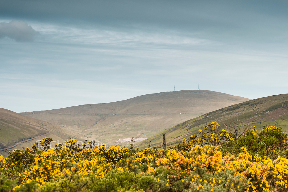 First glimpse of Snaefell from just above Agneash