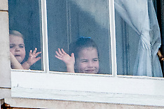 Prince George, Princess Charlotte and Prince Louis watch Trooping the Colour - 8 June 2019