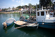 Israel, Tiberias, Fishing Harbour - in 2010 commercial fishing of the lake was put on hold to allow the fish population to re-establish itself
