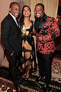 New York, New York- June 6: (L-R) Visual Artist Hank Willis Thomas, Curator Rujecko Hockely and Visual Artist Kehinde Wiley attend the 2017 Gordon Parks Foundation Awards Dinner celebrating the Arts & Humanitarianism held at Cipriani 42nd Street on June 6, 2017 in New York City.   (Photo by Terrence Jennings/terrencejennings.com)
