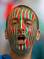 Photo: Glyn Thomas.<br />Italy v Ukraine. Quarter Finals, FIFA World Cup 2006. 30/06/2006.<br /> An Italian fan supports his team.