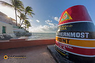 Southernmost marker in Key West, Florida, USA