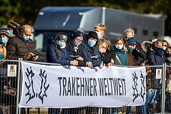 KopfNr. 04 JEGIER von Diverse X Ajbek<br /> Pflastermusterung der Hengste auf der Dreiecksbahn<br /> Neumünster - 58. Int. Trakehner Hengstmarkt 2020<br /> 15. Oktober 2020<br /> © www.sportfotos-lafrentz.de/Stefan Lafrentz