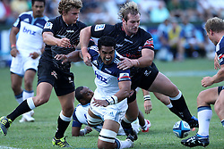 Daniel Braid of The Blues during the Super15 match between The Mr Price Sharks and The Blues held at Mr Price Kings Park Stadium in Durban on the 26th February 2011..Photo By:  Ron Gaunt/SPORTZPICS