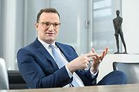 05 MAY 2021, BERLIN/GERMANY:<br /> Jens Spahn, CDU, Bundesgesundheitsminister, wahrend einem Interview, in seinem Buero, Bundesministerium fur Gesundheit<br /> IMAGE: 202105005-01-015